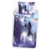 Unicorn Glow in the Dark - Dekbedovertrek - Eenpersoons -  140 x 200 cm - Multi