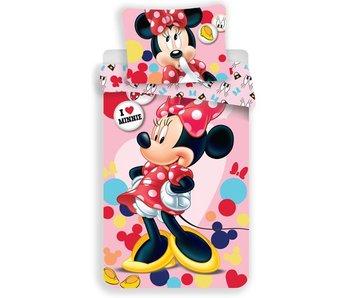 Disney Minnie Mouse Housse de couette Love Minnie 140x200