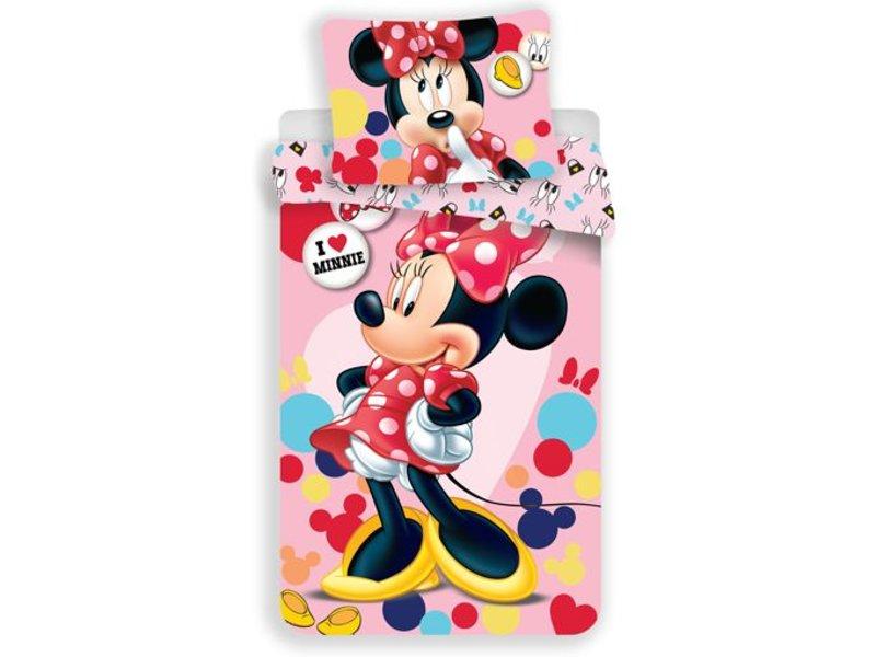 Disney Minnie Mouse Love Minnie - Duvet cover - Single - 140x200 cm - Multi