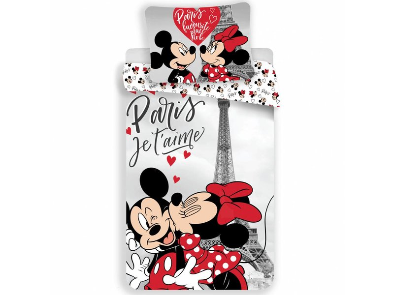 Disney Minnie Mouse Je T'aime - Duvet cover - Single - 140x200 - Multi