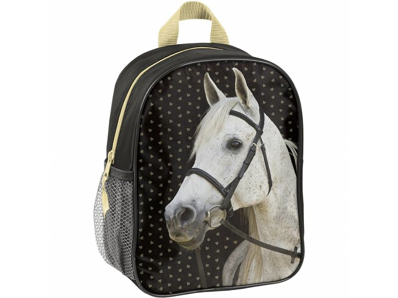 Animal Pictures Golden Horse - Toddler / Toddler Backpack - 28 x 22 x 10 cm - Multi