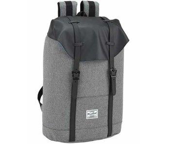 """BlackFit8 Sac à dos pour ordinateur portable noir et gris 15.6 """"42 cm"""