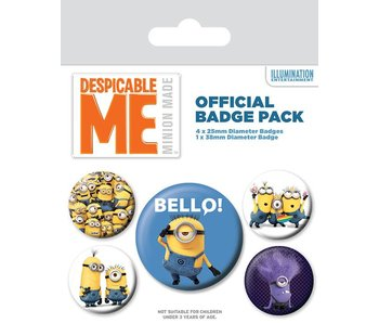 Minions Buttons 5 pack