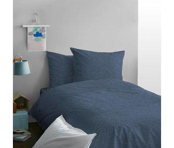 Matt & Rose Enveloppe de couette Jersey Bleu Chiné 140x200 cm