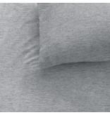 Matt & Rose Jersey Gris Chiné - Housse de couette - Seul - 140 x 200 cm - Gris