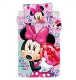 Disney Minnie Mouse Pink Hearts - Housse de couette bébé - 100 x 135 cm - Multi
