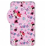 Disney Minnie Mouse XOXO - Hoeslaken - Eenpersoons - 90 x  200 cm - Roze