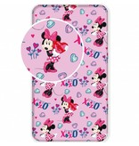 Disney Minnie Mouse XOXO - Spannbetttuch - Einzeln - 90 x 200 cm - Rosa