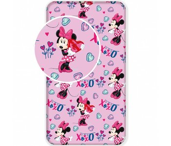 Disney Minnie Mouse Fitted sheet XOXO 90x200 cm