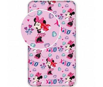 Disney Minnie Mouse Hoeslaken XOXO 90x200 cm