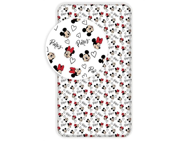 Disney Minnie Mouse Paris - Spannbetttuch - Einzeln - 90 x 200 cm - Multi