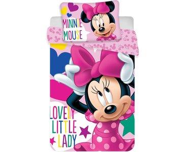 Disney Minnie Mouse Housse de couette bébé Ruban 100x135cm