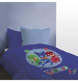 PJ Masks Trio - Beddensprei - Eenpersoons - 140 x 200 cm - Blauw