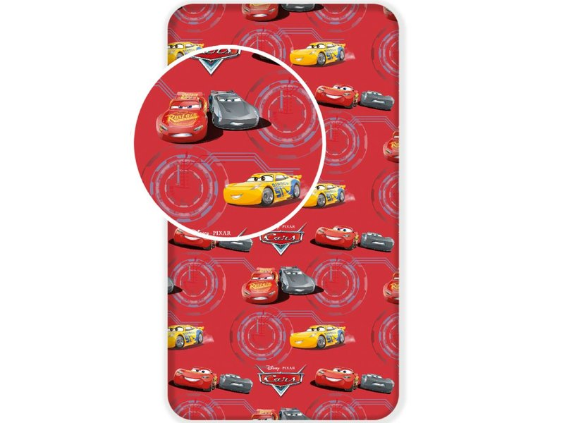Disney Cars Red - Fitted sheet - Single - 90 x 200 cm - Multi