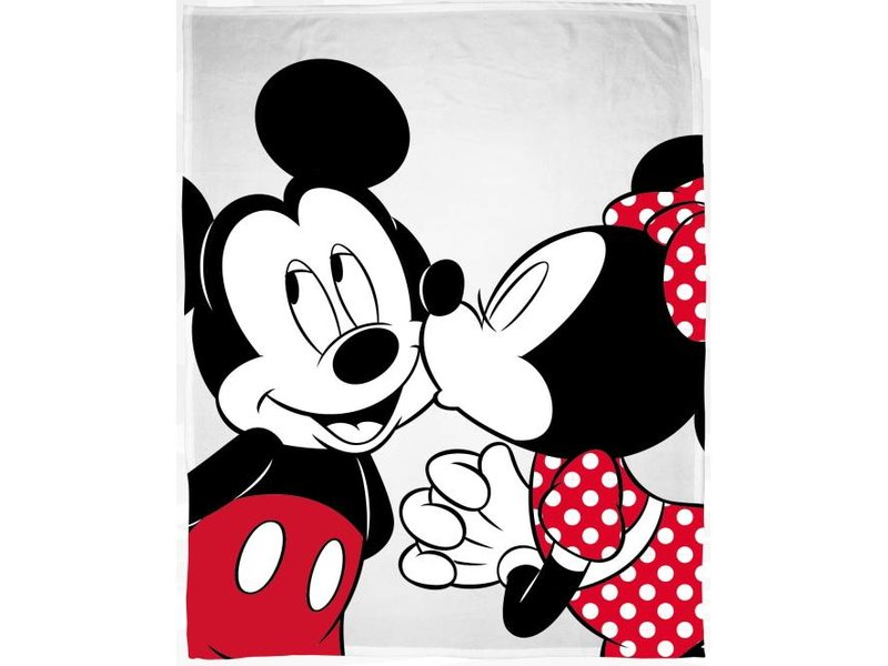 Disney Minnie Mouse Kiss - Fleece plaid - 130 x 160 cm - White