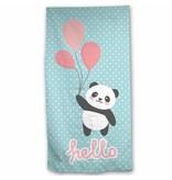 Panda Hello - Strandlaken - 70 x 140 cm - Multi