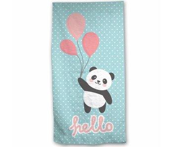 Panda Beach towel Hello 70x140 cm