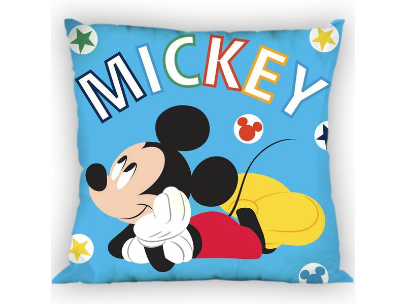 Disney Mickey Mouse Blue - Throw pillow - 35 x 35 cm - Blue