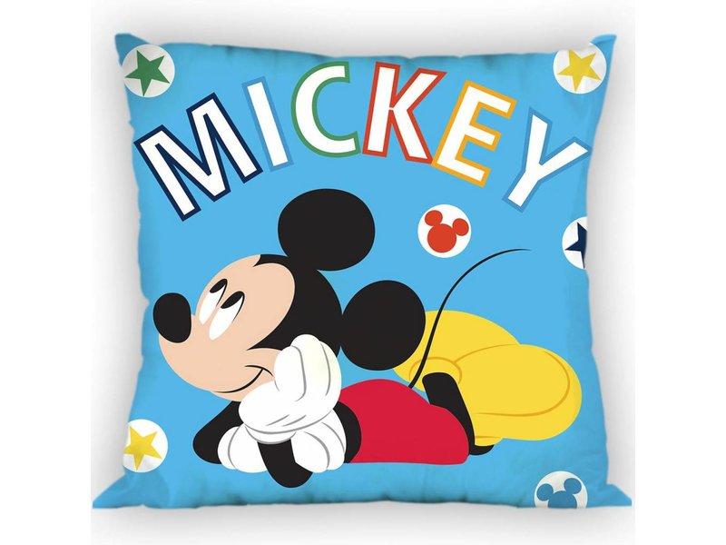 Disney Mickey Mouse Blue - Wurfkissen - 35 x 35 cm - Blau