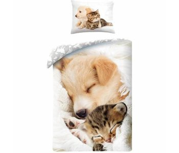 Animal Pictures Housse de couette Cat and Dog 140x200 cm