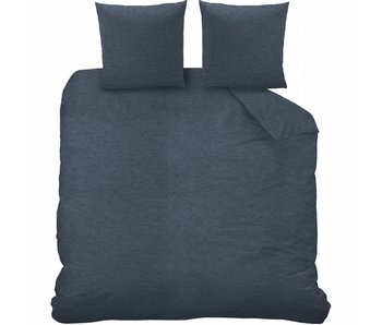 Matt & Rose Dekbedovertrek Jersey  Bleu Chiné 200 x 200 cm