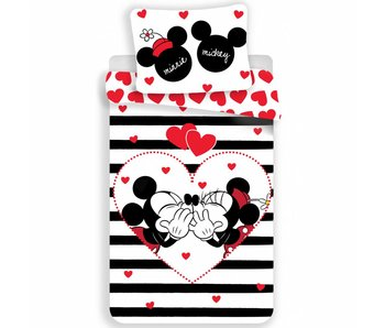 Disney Minnie Mouse Bettbezug Streifen 140x200