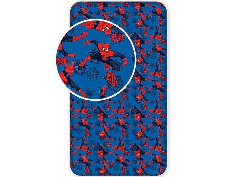 SpiderMan Go Spidey - Hoeslaken - Eenpersoons - 90 x  200 cm - Blauw