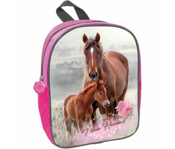 Animal Pictures Toddler Backpack Horse and Foal 29 cm