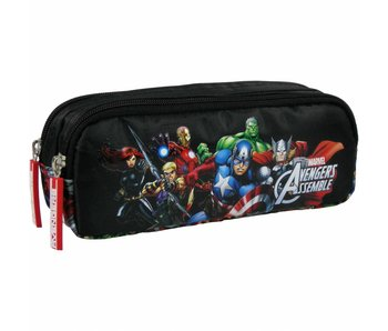 Marvel Avengers Pencil Case 2 zippers Superheroes