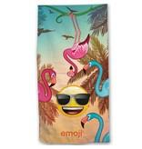 Emoji Flamingos - Beach towel - 70 x 140 cm - Multi