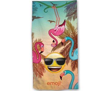 Emoji Beach towel Flamingos