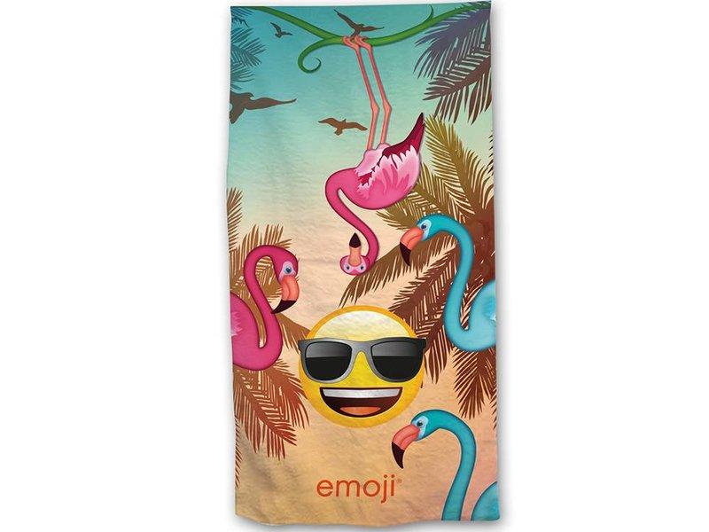 Emoji Flamingo's - Strandlaken - 70 x 140 cm - Multi
