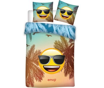 Emoji Dekbedovertrek Sunglasses 140x200 cm