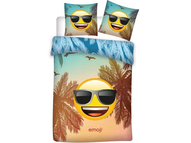 Emoji Sonnenbrille - Bettbezug - Einzel - 140 x 200 cm - Multi