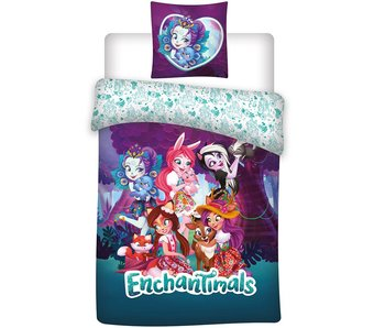 Enchantimals Enveloppe de couette Friends 140x200 cm
