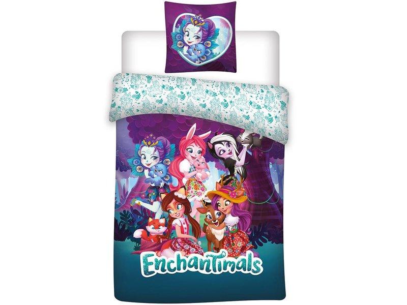 Enchantimals Friends - Bettbezug - Einzel - 140 x 200 cm - Multi
