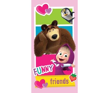 Masha en de Beer Beach towel Funny Friends 70x140 cm