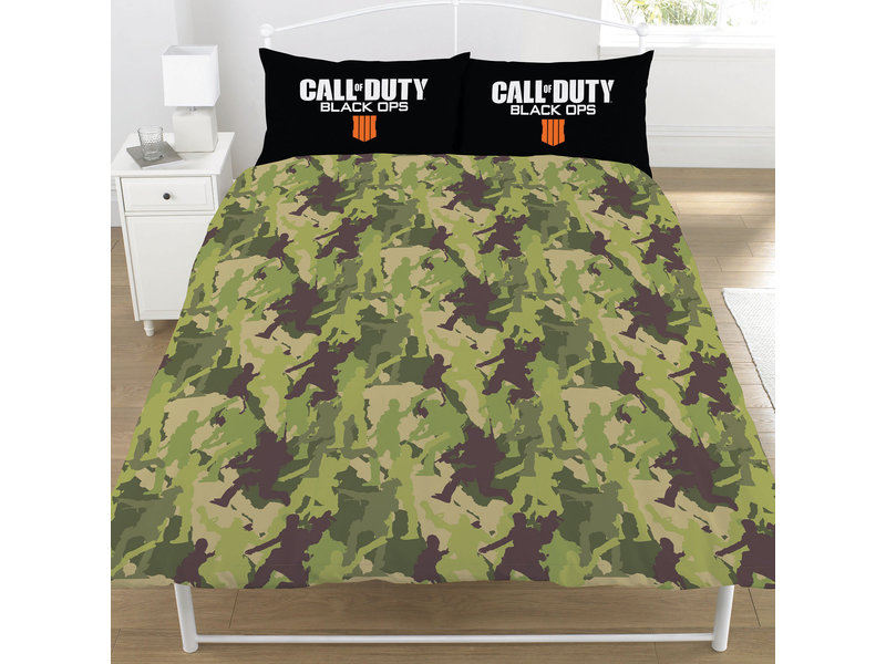 Call of Duty Black OPS - Bettbezug - doppelt - 200 x 200 cm - Schwarz