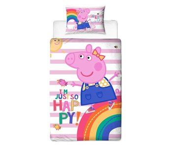 Peppa Pig Housse de couette Hooray single