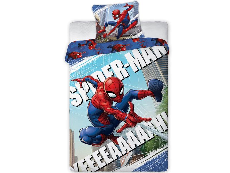 SpiderMan - Housse de couette - Simple - 140 x 200 cm - Multi