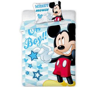Disney Mickey Mouse Housse de couette BABY 100x135cm + 40x60cm 100% coton