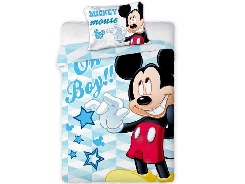 Disney Mickey Mouse Oh boy !! - Housse de couette BABY - 100 x 135 cm - Multi