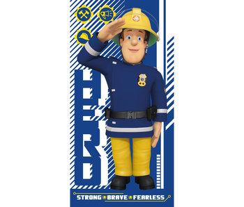 Brandweerman Sam Strandlaken Hero 70x140cm 100% katoen
