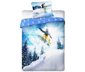Sport Bettbezug Skieen 140x200 + 70x90cm aus 100% Baumwolle
