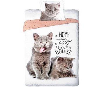 Animal Pictures Duvet cover Cats 140x200 + 70x90cm