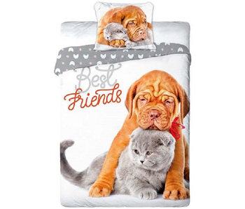 Animal Pictures Dekbedovertrek Cat & Dog 140x200 + 70x90cm