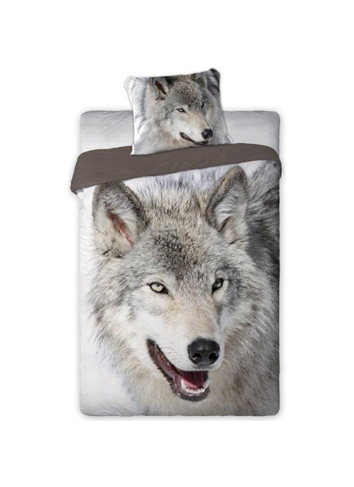 Animal Pictures Duvet cover Wolf 140x200 + 70x90cm