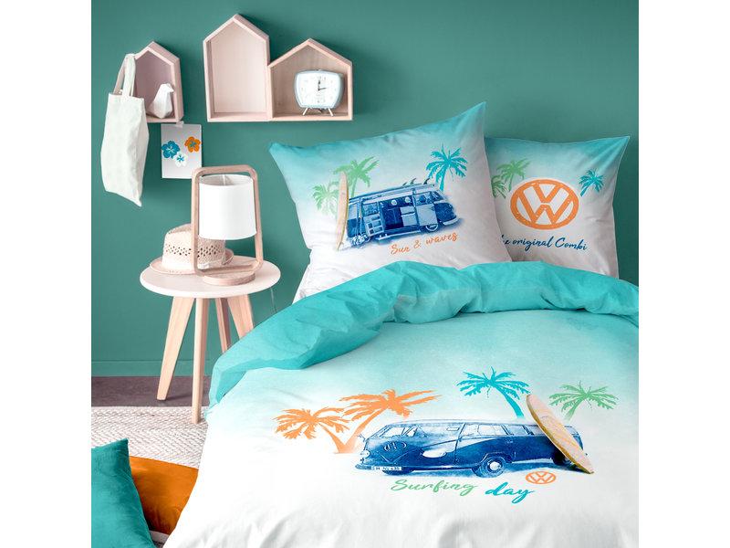 Volkswagen Surfing Day - Dekbedovertrek - Eenpersoons - 140 x 200 cm -  Multi