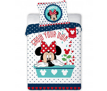Disney Minnie Mouse BABY dekbedovertrek grow your own 100x135cm + 40x60cm 100% katoen