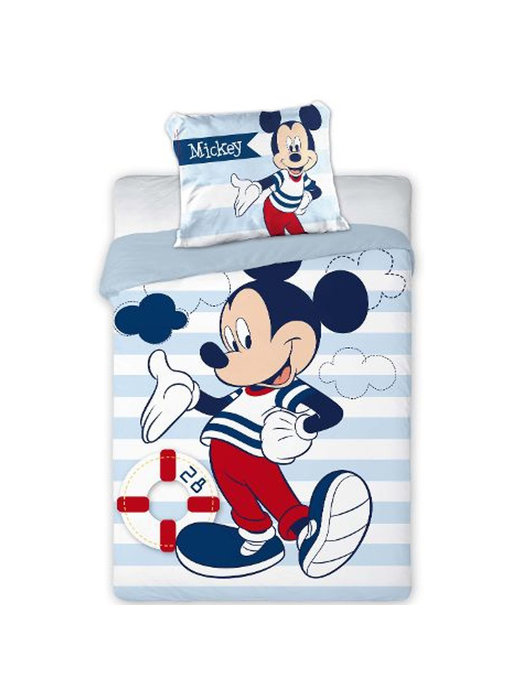 Disney Mickey Mouse BABY dekbedovertrek Sailor 100x135cm + 40x60cm